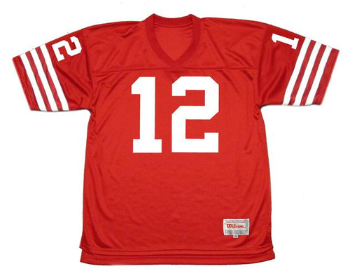JOHN BRODIE San Francisco 49ers 1973 Throwback Home NFL Football Jersey - FRONT