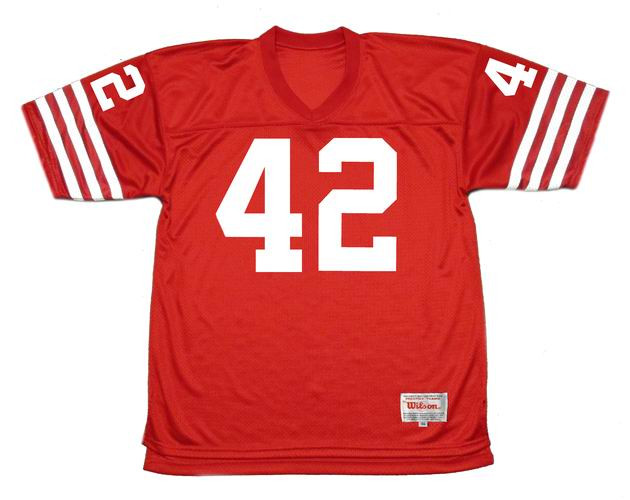 promo code 1cb3d 7cd30 RONNIE LOTT San Francisco 49ers 1988 Throwback Home NFL Football Jersey