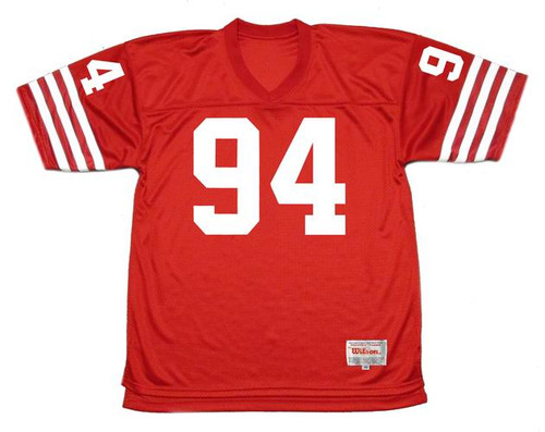 CHARLES HALEY San Francisco 49ers 1988 Throwback Home NFL Football Jersey - FRONT