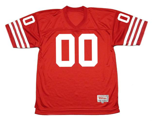 sale retailer 4eceb a3bc0 SAN FRANCISCO 49ers 1980's Throwback Home NFL Jersey Customized