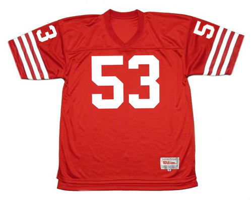 BILL ROMANOWSKI San Francisco 49ers 1988 Throwback Home NFL Football Jersey - FRONT
