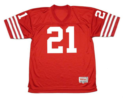 ERIC WRIGHT San Francisco 49ers 1988 Throwback Home NFL Football Jersey - FRONT