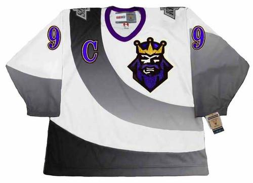 WAYNE GRETZKY Los Angeles Kings 1995 CCM NHL Vintage Throwback Jersey - FRONT