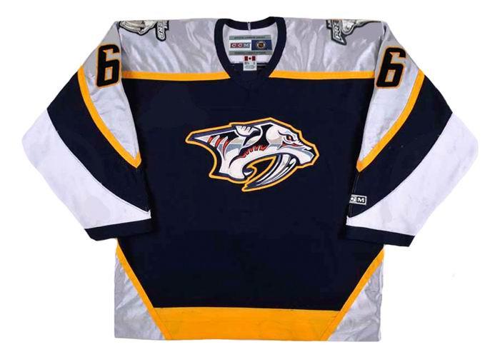 9b087cc5b ... Nashville Predators NHL Throwback Hockey Jersey - BACK. See 4 more  pictures
