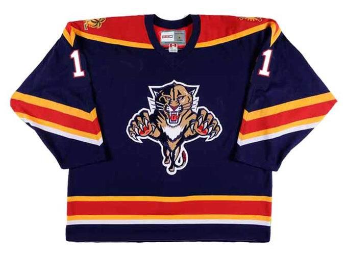 official photos e5e1b 0fec6 ROBERTO LUONGO Florida Panthers 2003 CCM Vintage Throwback NHL Hockey Jersey