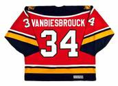 1996 Away CCM Throwback JOHN VANBIESBROUCK  Vintage Panthers Jersey - BACK