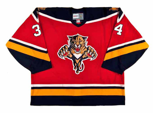 1996 Away CCM Throwback JOHN VANBIESBROUCK  Vintage Panthers Jersey - FRONT