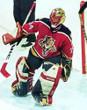 1996 Away CCM Throwback JOHN VANBIESBROUCK  Vintage Panthers Jersey - ACTION