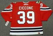ENRICO CICCONE Chicago Blackhawks 1996 CCM Throwback NHL Hockey Jersey