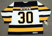 CHRIS NILAN Boston Bruins 1992 CCM Vintage Throwback Home NHL Hockey Jersey
