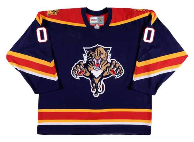 brand new a1f06 e935a FLORIDA PANTHERS 1990's CCM Vintage Jersey Customized