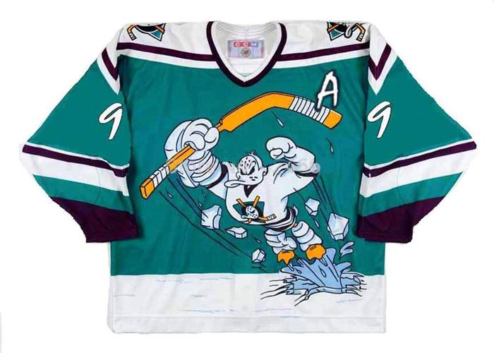 PAUL KARIYA 1995 CCM Alternate Anaheim Mighty Ducks Vintage Jersey - BACK.  See 3 more pictures 4a994e3fc