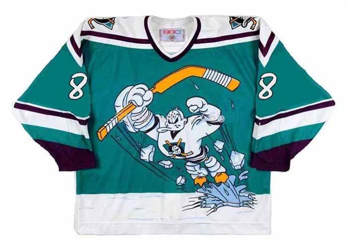7e39f3ec5 CCM | TEEMU SELANNE Anaheim Mighty Ducks 1995 Throwback NHL Hockey ...