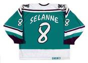 "TEEMU SELANNE Anaheim Mighty Ducks 1995 ""Wild Wing"" CCM Throwback  NHL Jersey"