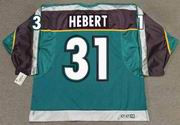 GUY HEBERT 1998 CCM Vintage Alternate Anaheim Mighty Ducks Jersey - BACK