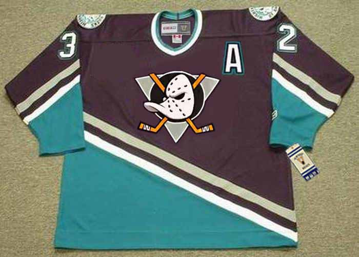 competitive price b65f4 5c308 STU GRIMSON Anaheim Mighty Ducks 1998 Away CCM NHL Vintage Throwback Jersey