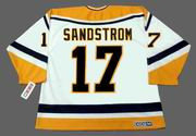 TOMAS SANDSTROM Pittsburgh Penguins 1995 CCM Throwback Home NHL Jersey