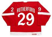 JIM RUTHERFORD Detroit Red Wings 1982 CCM Vintage Throwback NHL Hockey Jersey