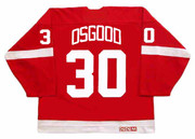 1995 CCM Detroit Away Throwback CHRIS OSGOOD Red Wings Hockey Jersey - BACK