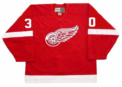 1995 CCM Detroit Away Throwback CHRIS OSGOOD Red Wings Hockey Jersey - FRONT