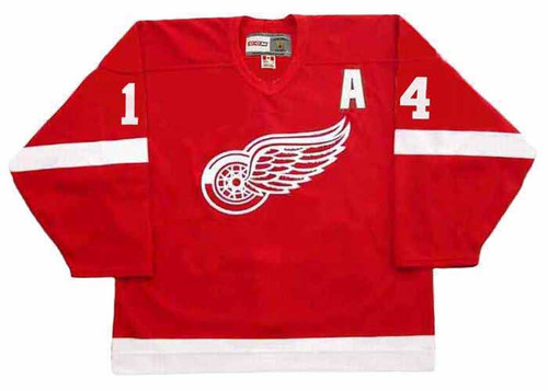 2002 Away CCM Throwback BRENDAN SHANAHAN Red Wings Jersey - FRONT