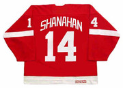 2002 Away CCM Throwback BRENDAN SHANAHAN Red Wings Jersey - BACK