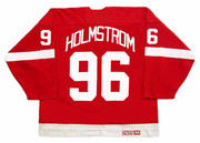 TOMAS HOLMSTROM Detroit Red Wings 2002 Away CCM Throwback NHL Hockey Jersey - BACK