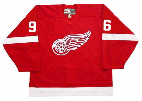 TOMAS HOLMSTROM Detroit Red Wings 2002 Away CCM Throwback NHL Hockey Jersey - FRONT