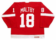 KIRK MALTBY Detroit Red Wings 2002 Away CCM Throwback NHL Hockey Jersey - BACK