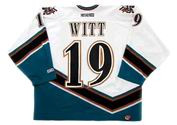 BRENDAN WITT 2001 Home  CCM Throwback Washington Capitals vintage jersey - BACK