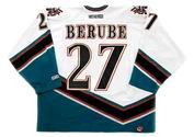 CRAIG BERUBE 1998 Home CCM Vintage Throwback Washington Capitals hockey jersey - BACK
