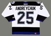 Dave Andreychuk 2004 Tampa Bay Lightning NHL Throwback Away Jersey - BACK