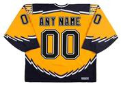 BOSTON BRUINS 2002 Alternate CCM Throwback Custom Hockey Jerseys - BACK