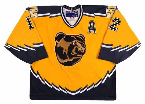 ADAM OATES 1996 Alternate CCM NHL Throwback Boston Bruins Jerseys - FRONT