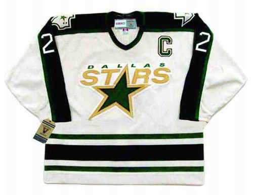 DERIAN HATCHER Dallas Stars 1996 Home CCM Throwback NHL Hockey Jersey - FRONT