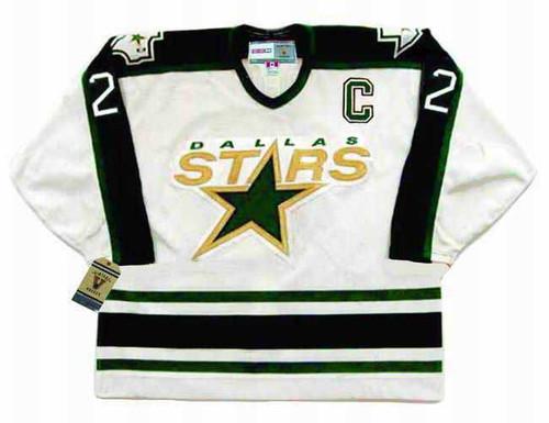 DERIAN HATCHER Dallas Stars 1996 Home CCM Throwback NHL Hockey Jersey - FRONT