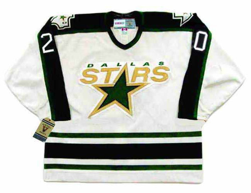 ED BELFOUR Dallas Stars 1997 Home CCM Throwback NHL Hockey Jersey - FRONT