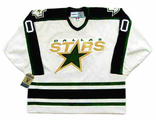 Customized 1990's Home CCM Dallas Stars Hockey Jersey - FRONT