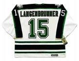 JAMIE LANGENBRUNNER Dallas Stars 1997 Home CCM Throwback NHL Hockey Jersey - BACK