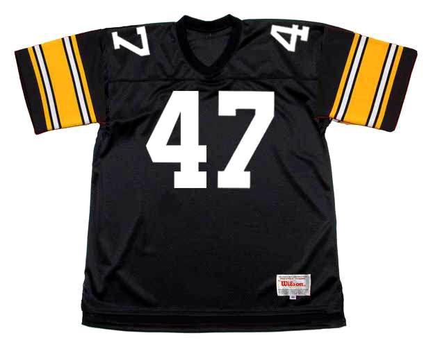 best service fa7fa f7373 MEL BLOUNT Pittsburgh Steelers 1979 Throwback Home NFL Football Jersey