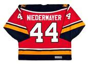 1996 Away CCM Throwback ROB NIEDERMAYER  Vintage Panthers Jersey - BACK