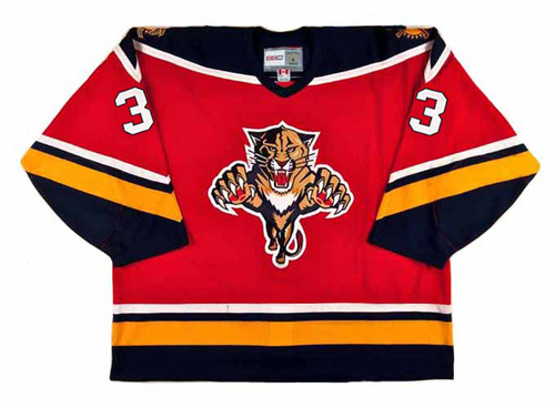 1996 Away CCM Throwback PAUL LAUS  Vintage Panthers Jersey - FRONT