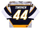 Kimmo Timonen 2001 Nashville Predators NHL Throwback Hockey Jersey - BACK