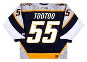 Jordin Tootoo 2003 Nashville Predators NHL Throwback Hockey Jersey - BACK