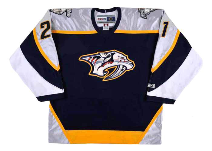 sale retailer 2af91 17b8e PETER FORSBERG Nashville Predators 2006 CCM Throwback NHL Hockey Jersey