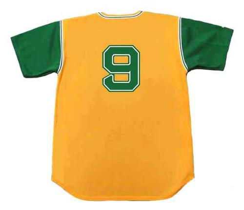 REGGIE JACKSON Oakland Athletics 1968 Majestic Baseball Throwback Jersey - BACK
