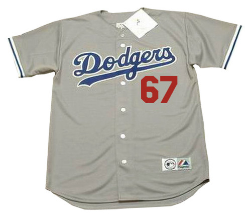 VIN SCULLY Los Angeles Dodgers 1980's Majestic Throwback Away Baseball Jersey - FRONT