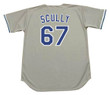 VIN SCULLY Los Angeles Dodgers 1980's Majestic Throwback Away Baseball Jersey  - BACK