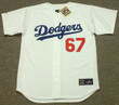 VIN SCULLY Los Angeles Dodgers Majestic Home Cooperstown Throwback Jersey - FRONT