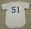 Bernie Williams 2003 New York Yankees MLB Away Throwback Baseball Jersey - BACK
